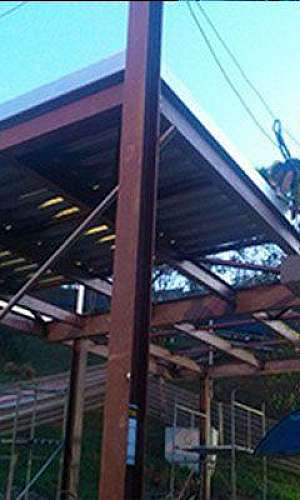 laje steel deck montagem