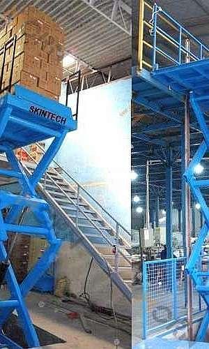 Mesa elevatória pantográfica