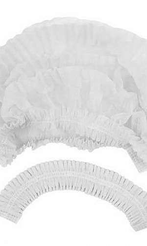Touca sanfonada branca